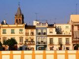 Building Facades along Guadalquivir River, Sevilla, Andalucia, Spain Photographic Print by John Elk III