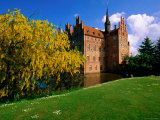 Yellow Flowering Tree with Castle in Background, Funen Island, Funen, Denmark Photographic Print by John Elk III