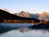 Grand Teton at Sunrise, from Oxbow Bend, Grand Teton National Park, Wyoming Photographic Print by Holger Leue