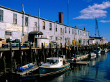 Old Port Exchange Area, Fishing Docks, Portland, Maine Fotografisk tryk af John Elk III