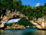 Arch Rock, Natural Archway, Rock Islands, Koror, Palau Photographic Print by John Elk III