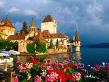 Oberhofen Castle, Lake Thun, Thun, Bern, Switzerland Photographic Print by David Tomlinson