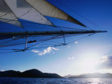 Horizon Seem from Bowsprit Net Star Clipper, Tortola Photographic Print by Holger Leue