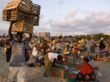 People at Beach Market, Beira, Sofala, Mozambique Photographic Print by Ariadne Van Zandbergen