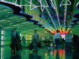 Walkway in International Airport, Chicago, Illinois Photographic Print by Peter Hendrie