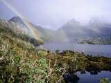 Rainbow at Dove Lake, Cradle Mountain-Lake St. Clair National Park, Tasmania, Australia Photographic Print by Holger Leue