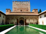 Patio de Los Arrayanes in Palacio Nazaries in Alhambra, Granada, Andalucia, Spain Photographic Print by John Elk III