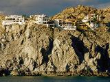 Cliff Homes on Coast, Cabo San Lucas, Baja California Sur, Mexico Photographic Print by Richard Cummins