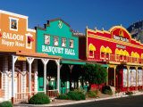 Colourful Western-Style Facade Near Sabino Canyon, Tucson, Arizona Photographic Print by David Tomlinson