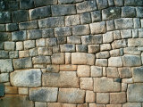Section of an Ancient Rock Wall Showing the Inca's Incredible Skills at Stone-Masonry, Peru Photographic Print by Richard I'Anson