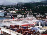 Cruise Ship Inspiration at Port, Castries Photographic Print by Holger Leue