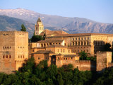 Alhambra from Albaicin, Granada, Andalucia, Spain Fotodruck von John Elk III