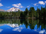 Mt. Lassen and Reflection Lake, California Photographic Print by John Elk III