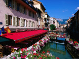Thiou River Running through Town Centre, Annecy, Rhone-Alpes, France Photographic Print by John Elk III