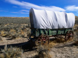 Covered Wagon, Historic Oregon Trail, Baker City, Oregon Photographic Print by John Elk III