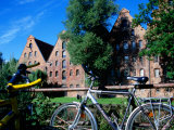 Bicycles in Front of Salzspeicher, Lubeck, Schleswig-Holstein, Germany Photographic Print by Martin Lladó