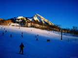 Skiers at Mt. Crested Butte, Crested Butte, Colorado Photographic Print by Holger Leue