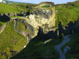 The Castle Ruins at Tintagel, Tintagel, Cornwall, England Photographic Print by Glenn Beanland