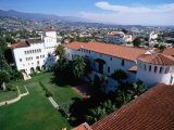 Santa Barbara County Courthouse Seen from Tower, Santa Barbara, California Photographic Print by John Elk III