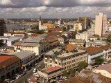 Cityscape Showing Harbour and Lutheran Church, Dar Es Salaam, Tanzania Photographic Print by Ariadne Van Zandbergen