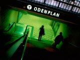 Passengers Entering Odenplan Metro Train Station, Stockholm, Sweden Photographic Print by Martin Lladó