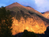 Late Afternoon Light on Ajax Mountain, Telluride, Colorado Photographic Print by Holger Leue
