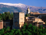 Alhambra Seen from Mirador San Nicolas in Albaicin District, Granada, Andalucia, Spain Photographic Print by David Tomlinson