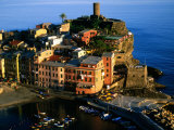 Town on Ligurian Sea from Above, Vernazza, Liguria, Italy Photographic Print by Glenn Van Der Knijff
