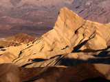 Zabriskie Point, Manly Beacon at Sunrise, Death Valley National Park, California Photographic Print by John Elk III