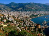 City and Marina Viewed from Surrounding Hillside, Alanya, Antalya, Turkey Photographic Print by John Elk III