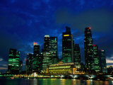 City Skyline from Marina Promenade, Singapore Photographic Print by John Elk III
