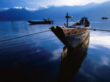 Fishing Boat in Coastal Lagoon in Central Vietnam, Lang Co, Thua Thien-Hue, Vietnam Photographic Print by Stu Smucker