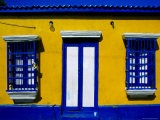 Brightly-Painted House on Main Street, Los Puertos de Altagracia, Zulia, Venezuela Photographic Print by Krzysztof Dydynski