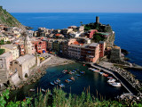 Vernazza and Harbour, Cinque Terre, Liguria, Italy Photographic Print by John Elk III