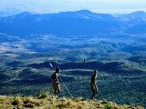 Two Men from Samburu Morans Tribe at Losiolo, Great Rift Valley, Rift Valley, Kenya Photographic Print by Christer Fredriksson