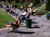 Relaxing in Bryant Park, Midtown, New York City, New York Photographic Print by Dan Herrick
