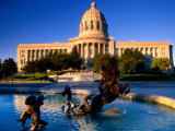 Fountain in Front of Missouri State Capitol Building, Jefferson City, Missouri Photographic Print by John Elk III