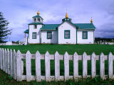 Russian Orthodox Church of Ninilchik, Kenai Peninsula, Ninilchik, Alaska Photographic Print by Brent Winebrenner