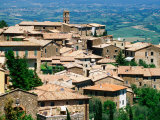 Hilltop Village of Montalcino Perched Above Val d'Orcia, Tuscany, Italy Photographic Print by David Tomlinson