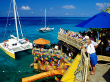 Catamarans Moored outside Margaritaville Pub and Restaurant, Montego Bay, Jamaica Photographic Print by Richard Cummins