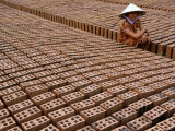 Brick Manufacturing Village in Southwestern Vietnam, Tay Ninh, Vietnam Photographic Print by Stu Smucker