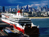 Tasmania Ferry, Station Pier, Port Melbourne, Melbourne, Victoria, Australia Photographic Print by Richard Cummins