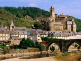 Old Town on Lot River, Estaing, Midi-Pyrenees, France Photographic Print by John Elk III