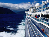 Cruise Ship, Dusky Sound, Fiordland National Park, New Zealand Photographic Print by Richard Cummins