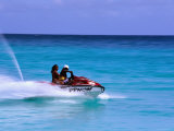 Jetskiing, Dover Beach, Christ Church Photographic Print by Holger Leue