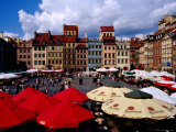 Summertime Open-Air, Outdoor Cafes on Old Market Square, Warsaw, Mazowieckie, Poland Photographic Print by Krzysztof Dydynski