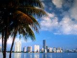 Skyline from Rickenbacker Causeway, Miami, Florida Fotografie-Druck von Witold Skrypczak