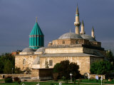 13th-Century Turquoise-Tiled Dome and Minaret of the Mevlana Turbesi Museum, Konya, Turkey Photographic Print by John Elk III