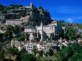 Town Buildings, Rocamadour, Midi-Pyrenees, France Photographic Print by John Elk III