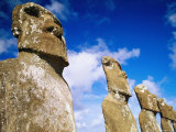 Moai at Ahu Akivi, Easter Island, Valparaiso, Chile Photographic Print by Peter Hendrie